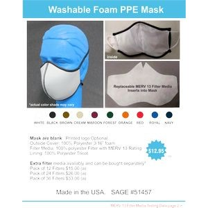 Medical Medical Washable Face Mask With Replaceable Filter